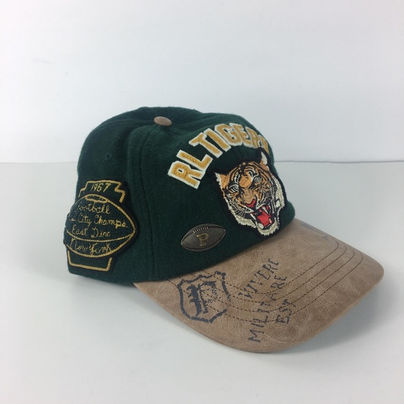 Polo Ralph Lauren Mens POLO RL TIGER Adjustable Ball Cap Hat Cotton NAVY